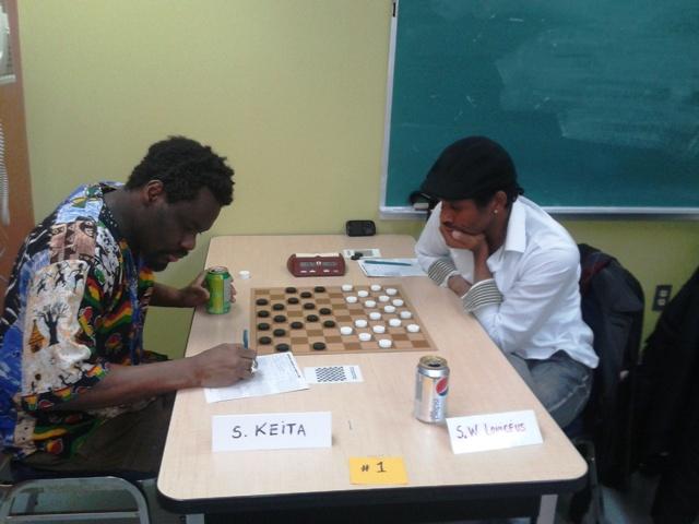 Partie décisive entre Souleymane Keita et Shang Wong Louiceus.