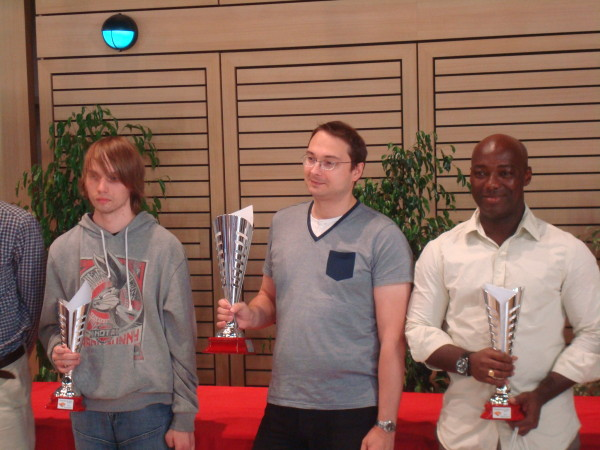 Podium 2013: Kevin Machtelinck (3e), Arnaud Cordier (champion), Oscar Lognon (2e).